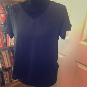 Black short sleeved blouse by Lily White